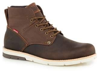 Levi's LEVIS Dark Brown Leather 'Jax' Lace Up Boots