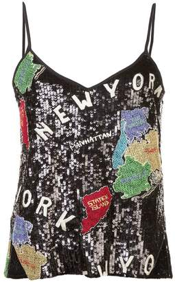 Nicole Miller sequinned tank top