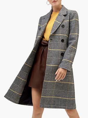 Warehouse Check Print Longline Coat, Multi