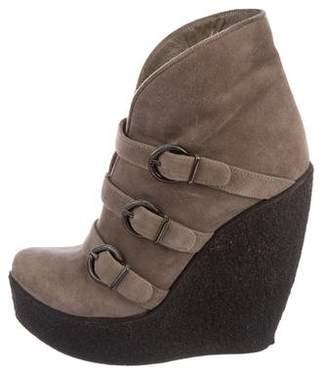 Steiger Paris Suede Wedge Boots