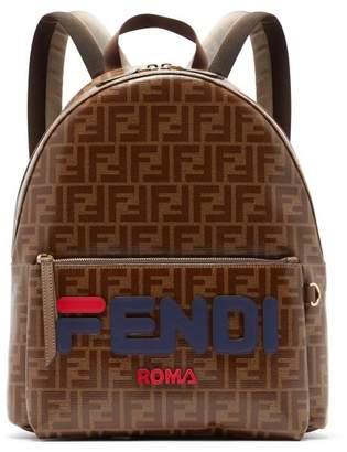 Fendi Mania Ff Print Leather Backpack - Mens - Brown Multi