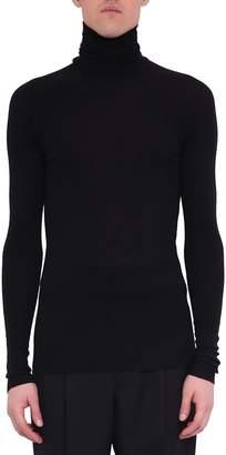 Haider Ackermann Borago Black Wool Turtleneck T-shirt