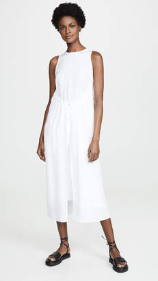 Vince Shirred Drawstring Dress