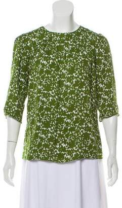 Michael Kors Printed Silk Blouse