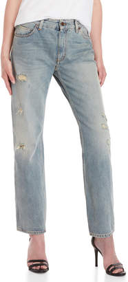 Fiorucci Straight Cropped Distressed Jeans