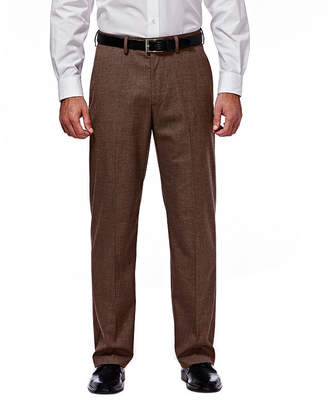 Haggar J.M. Premium Stretch Sharkskin Classic Fit Flat Front Chocolate Suit Pant