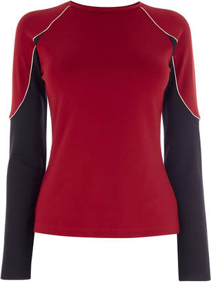 Karen Millen Panelled Sleeve Top