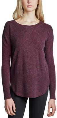 White + Warren Curved Rib Hem Crewneck Sweater - Women's