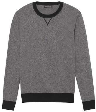 Banana Republic Premium Cotton Cashmere Heathered Crew-Neck Sweater