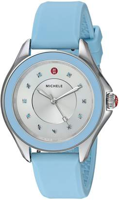 Michele Women's 'Cape Topaz' Quartz Stainless Steel and Silicone Casual Watch, Color: (Model: MWW27A000021)