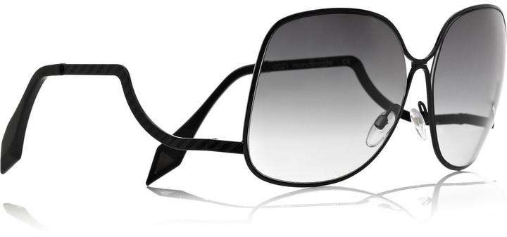 Victoria Beckham Square-frame metal sunglasses