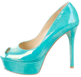 B Brian Atwood Patent Leather Platform Pumps $115 thestylecure.com
