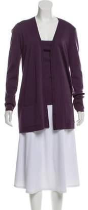 Michael Kors Cashmere Two-Piece Cardigan Set Aubergine Cashmere Two-Piece Cardigan Set
