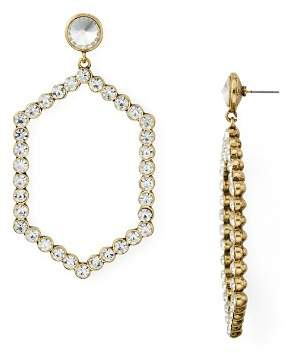 Aqua Crystal Hexagon Drop Earrings - 100% Exclusive