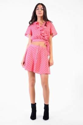 Glamorous **Rosebud Button Through Skirt