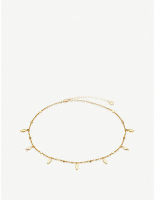 Missoma Ltd Gold Leaf 18ct gold-vermeil choker necklace