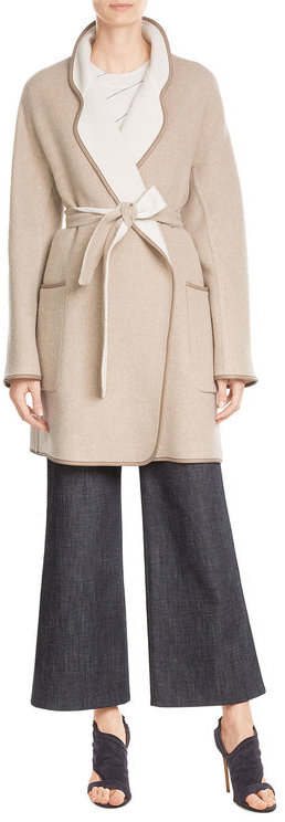 Max Mara Max Mara Reversible Wool Coat with Angora