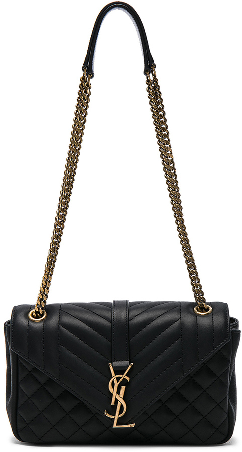 Saint Laurent Saint Laurent Medium Nubuck Envelope Chain Bag