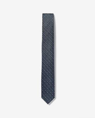 Express Skinny Micro Check Reversible Silk Tie