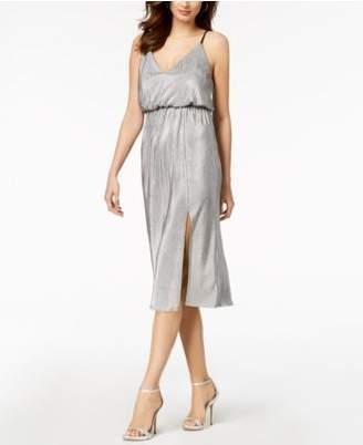 BCBGeneration Metallic-Pleated Midi Dress