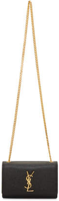 Saint Laurent Black and Gold Small Kate Chain Bag