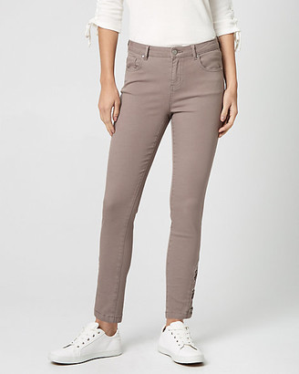 Le Château Stretch Denim Lace-Up Side Skinny Pant