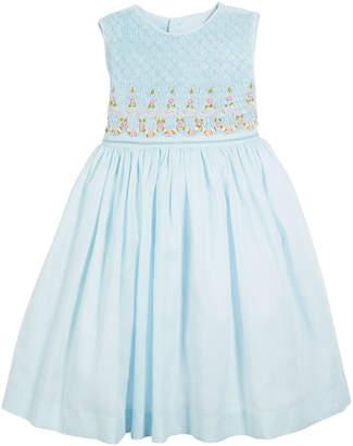 Luli & Me Smocked Sleeveless Bow-Back Dress, Size 4-6X