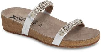 Mephisto 'Ivana' Crystal Embellished Slide Sandal