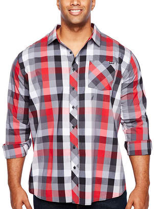 Zoo York Mens Long Sleeve Plaid Button-Front Shirt Big and Tall