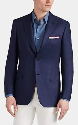 Brioni Men's Ravello Silk & Cashmere Two-Button Sportcoat - Blue