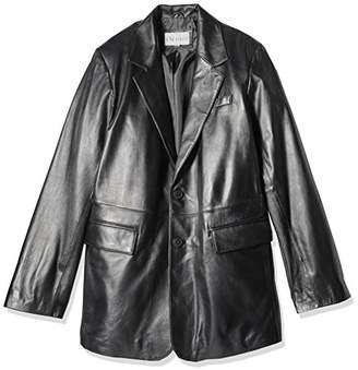 Excelled Men's Size Lambskin Leather Blazer