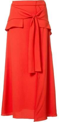 Proenza Schouler tie-front midi skirt