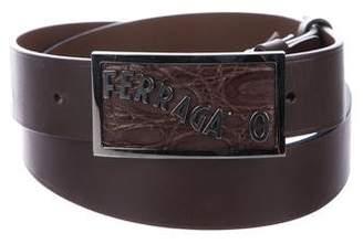 Salvatore Ferragamo Logo-Embellished Leather Belt