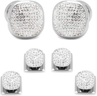 Cufflinks Inc. White Preciosa Pave Cuff Links & Stud Set