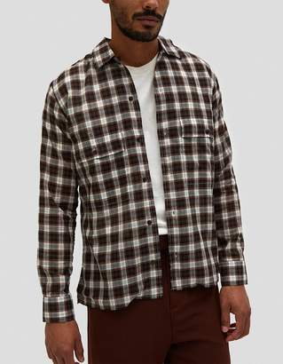 Cmmn Swdn Egon Shirt in Brown Check