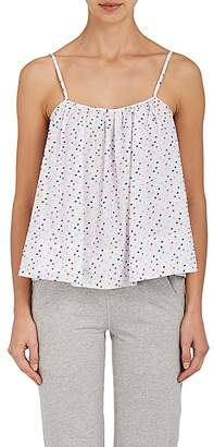 Nell Sleepy Jones SLEEPY JONES WOMEN'S SWISS DOT COTTON PAJAMA TOP