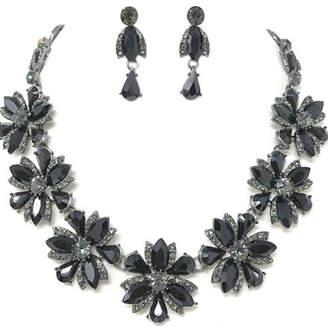 Nadya's Closet Black Stones Necklace-Set