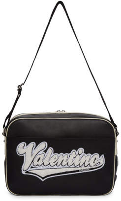 Valentino Black Garavani Varsity Messenger Bag