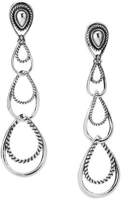 Carolyn Pollack Triple-Loop Dangle Earrings in Sterling Silver