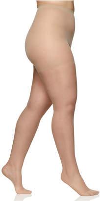 Berkshire Women Sheer Queen Plus Size Silky Extra Wear Control Top with Reinforced Toe Hosiery 4489