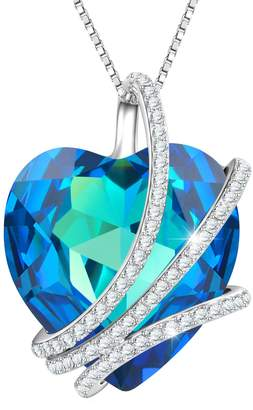 "Swarovski ""Around My Heart"" Wind Pendant Necklace Angelady Birthday women gifts Jewelry,Crystal from"