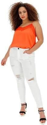 9d129609f31 White Chloe High Waist Ripped Skinny Jeans Regular Length