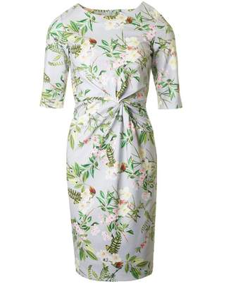 Bourne Beatrice 3/4 Sleeve Garden Print Dress