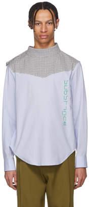 Raf Simons Blue Joy Division Substance Side Closure Shirt