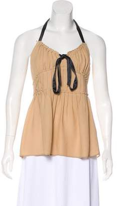 Michael Kors Pleated Halter Top