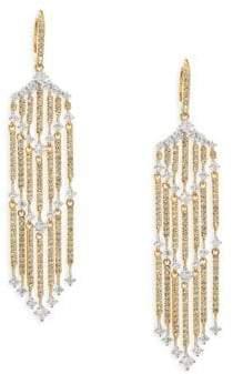 Adriana Orsini Greta Fringe Swarovski Crystal Earrings