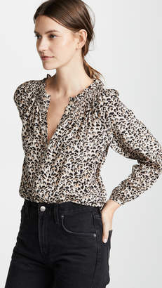 Rebecca Taylor Long Sleeve Leopard Top