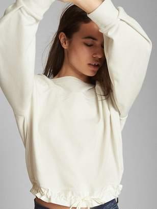 Gap Bishop Sleeve Pullover Sweatshirt in French Terry