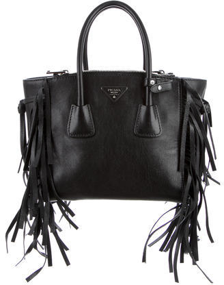 prada Prada Glace Calf Twin Pocket Tote