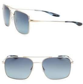 Barton Perreira Vlar 56MM Square Aviator Sunglasses
